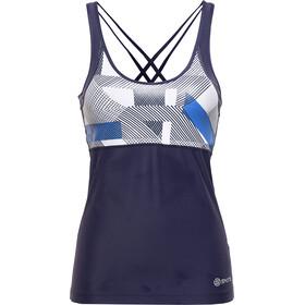 Skins A200 Canotta Donna, blu/bianco